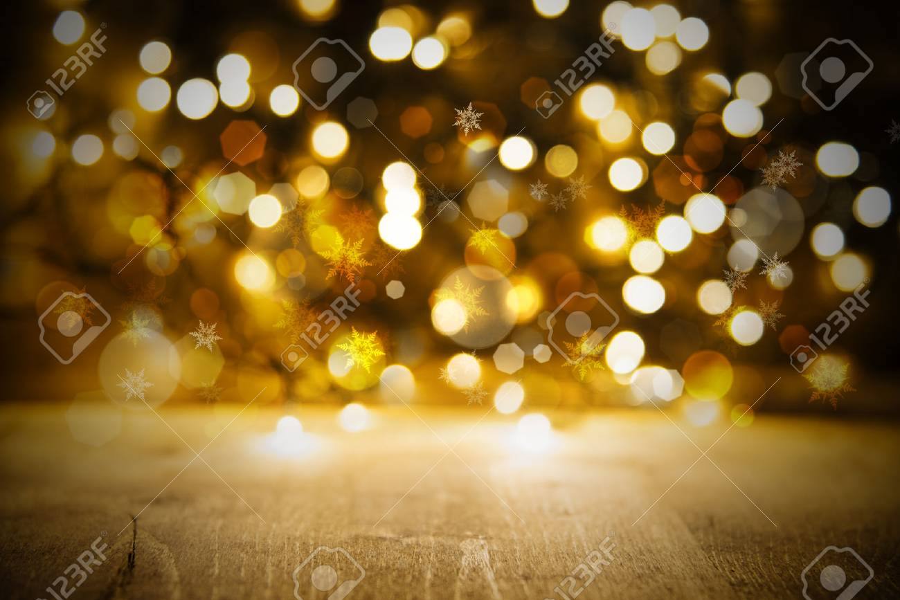 Christmas Lights Background.Golden Christmas Lights Background Party Or Celebration Texture