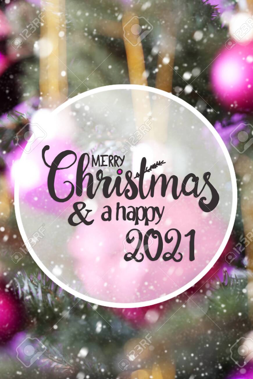 Closed For Christmas 2021 Purple Ornements Pics Chrismas Tree Blurry Pink Ball Merry Christmas And Happy 2021 Stock Photo Picture And Royalty Free Image Image 149824651