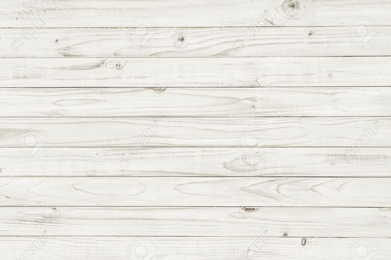 Stock photo vintage white wooden table top view wood background
