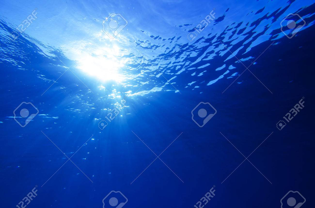 Abstract underwater deep blue backgrounds - 34784597
