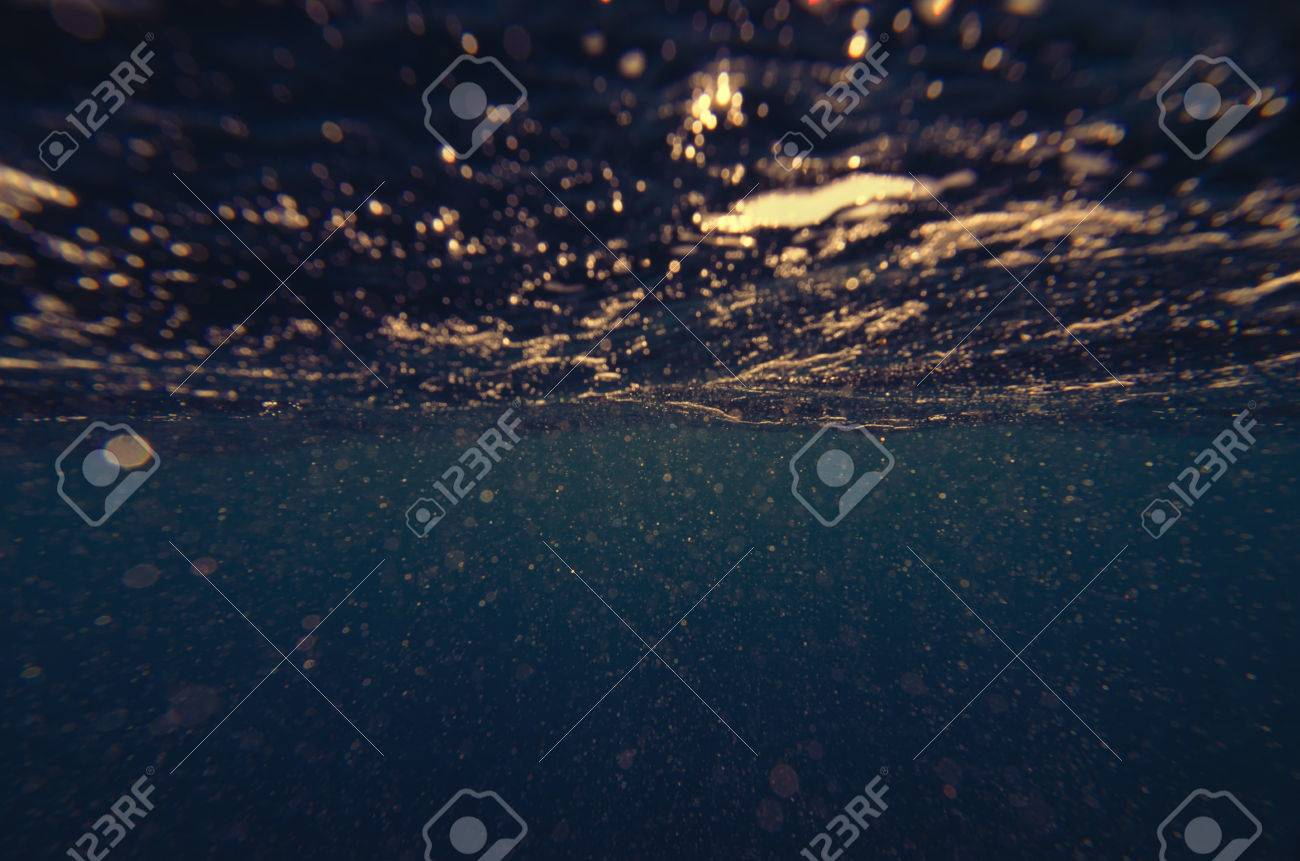 Abstract underwater deep blue backgrounds - 34784603