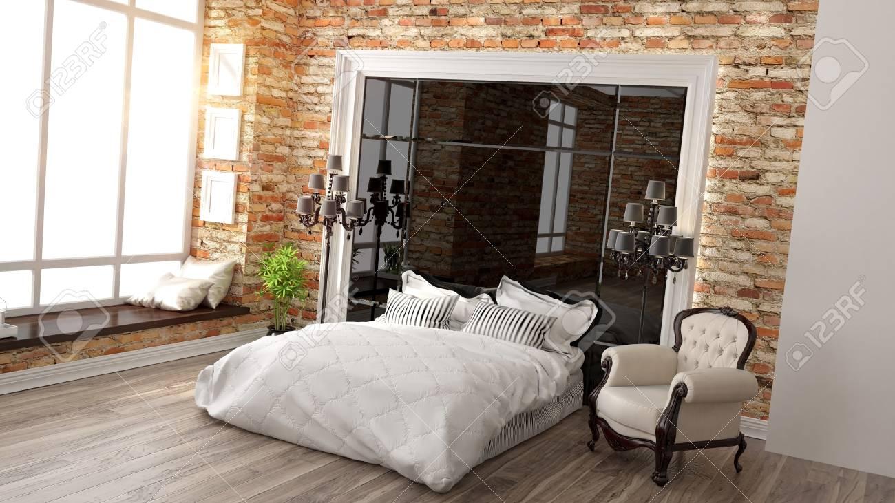 Camere Da Letto Art Deco : Immagini stock bellissimo interno camera da letto moderna in