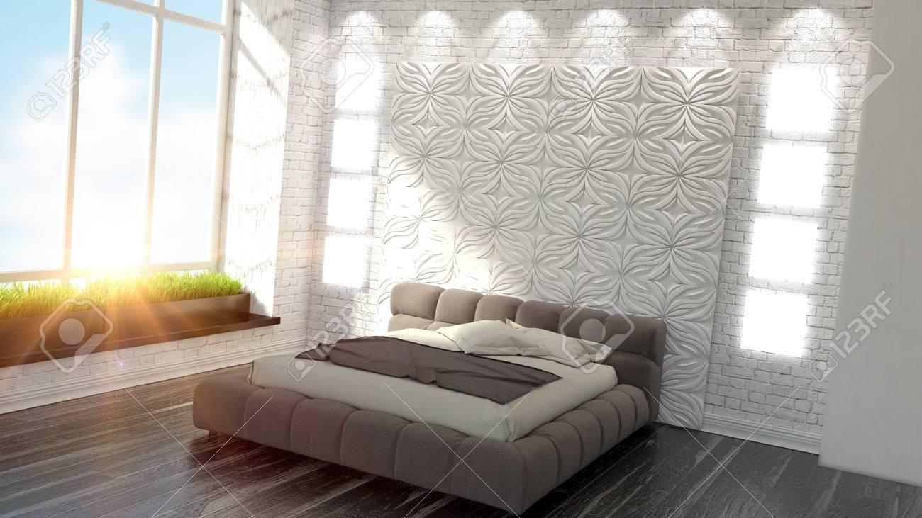Bel Interieur D Une Chambre Moderne Dans L Art Deco Rendu 3d De