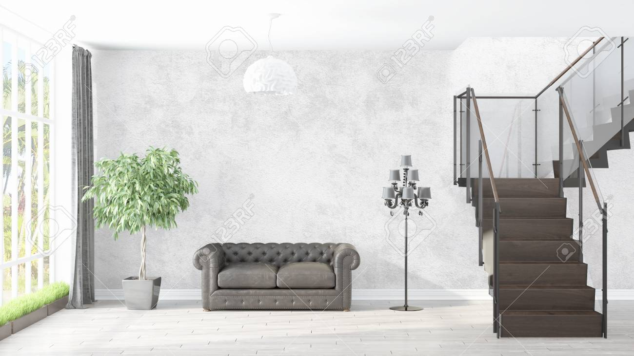 modern licht interieur 3d rendering stockfoto 73285155