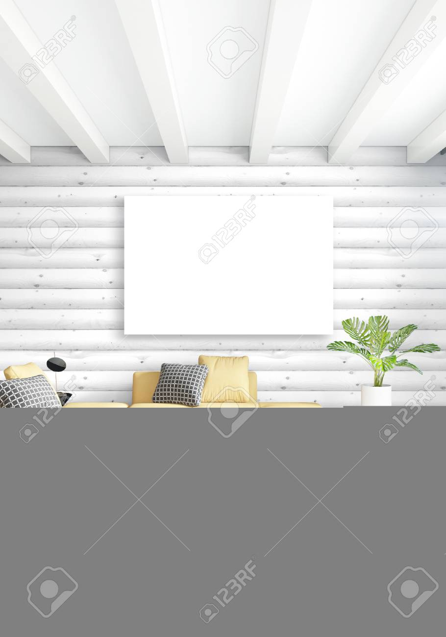 Weißes Schlafzimmer Minimal Modernes Oder Loft-Stil Interior Design ...