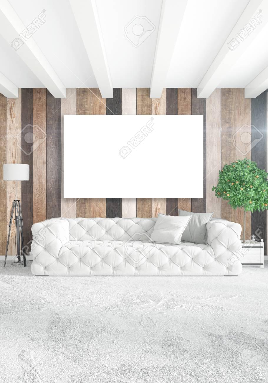 Chambre Blanche Conception D\'intérieur Moderne Et Style Loft ...