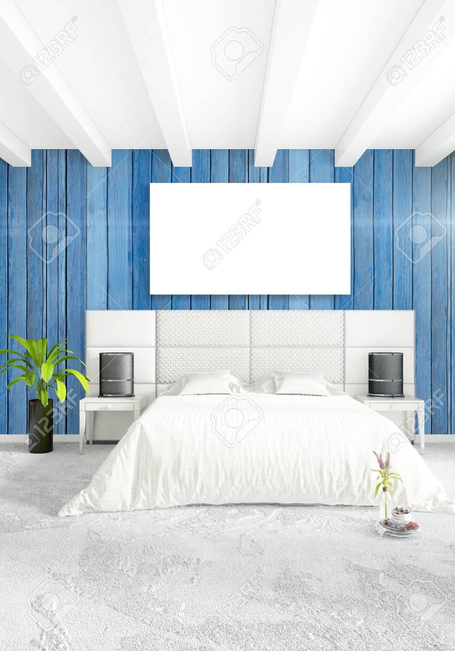 Vertical Bedroom Minimal Or Loft Style Interior Design 3d Rendering