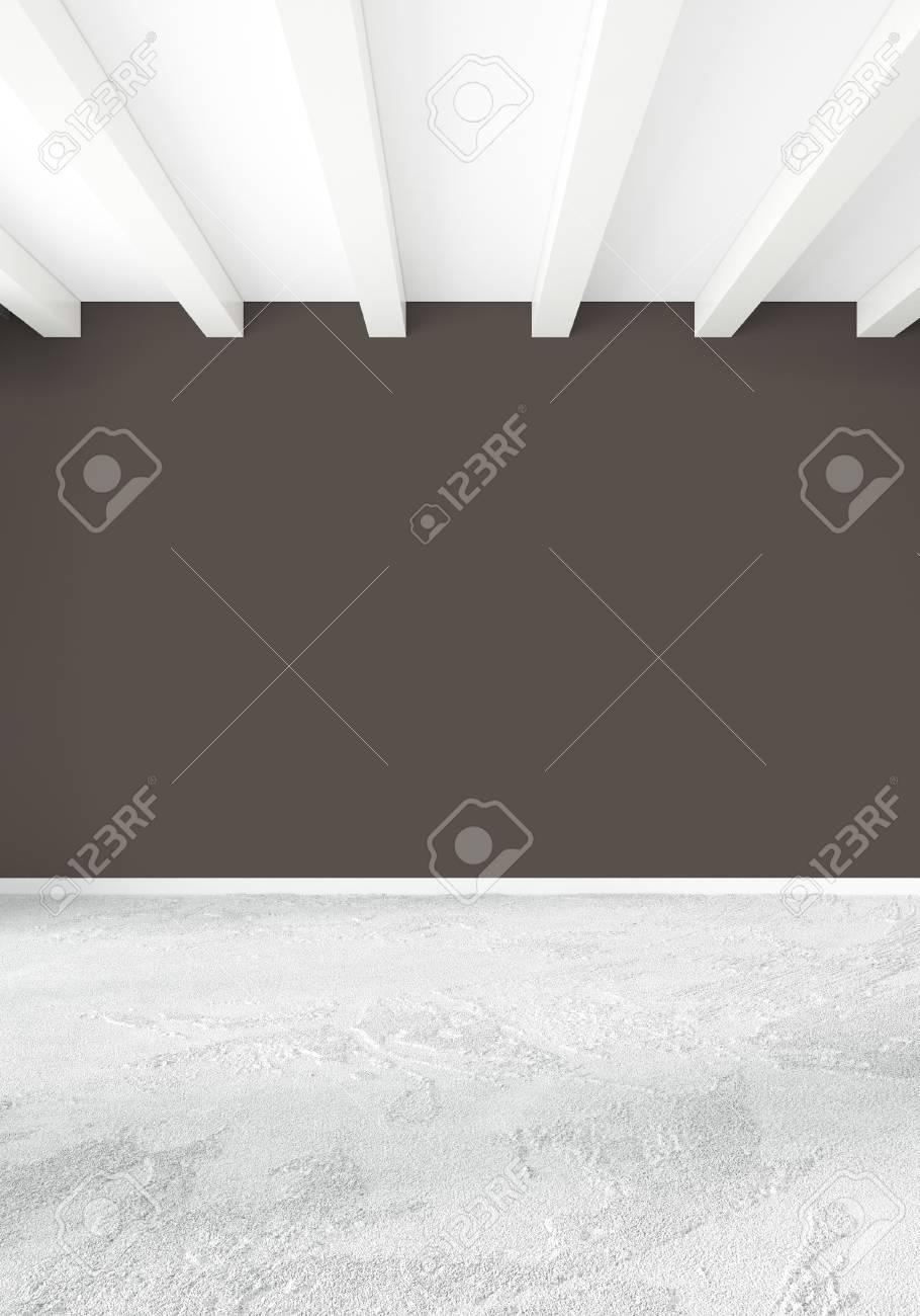 Chambre Blanche Intérieur Intérieur Style Minimaliste Avec Mur De ...