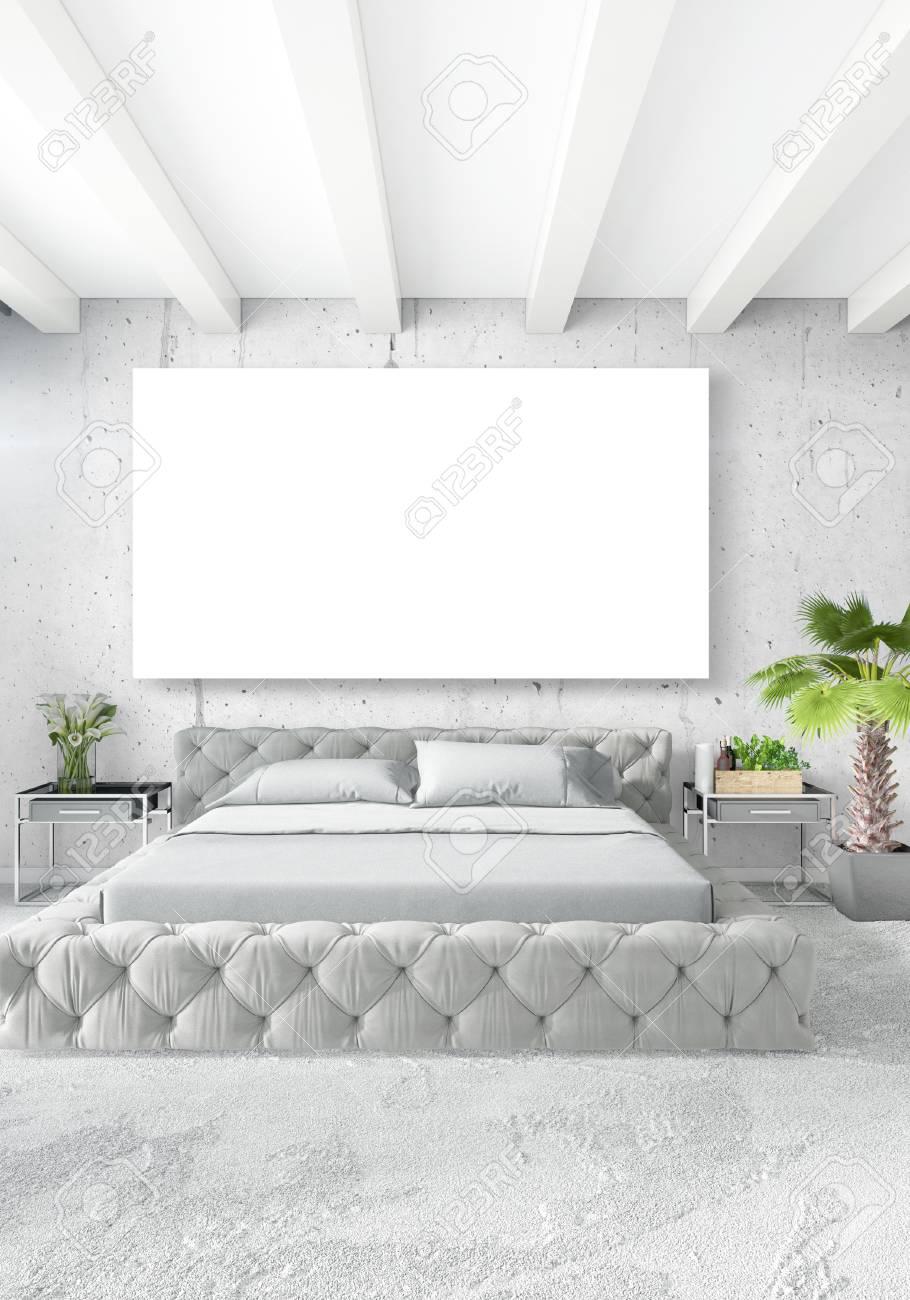 Chambre A Coucher Blanche Style Minimaliste Design D Interieur