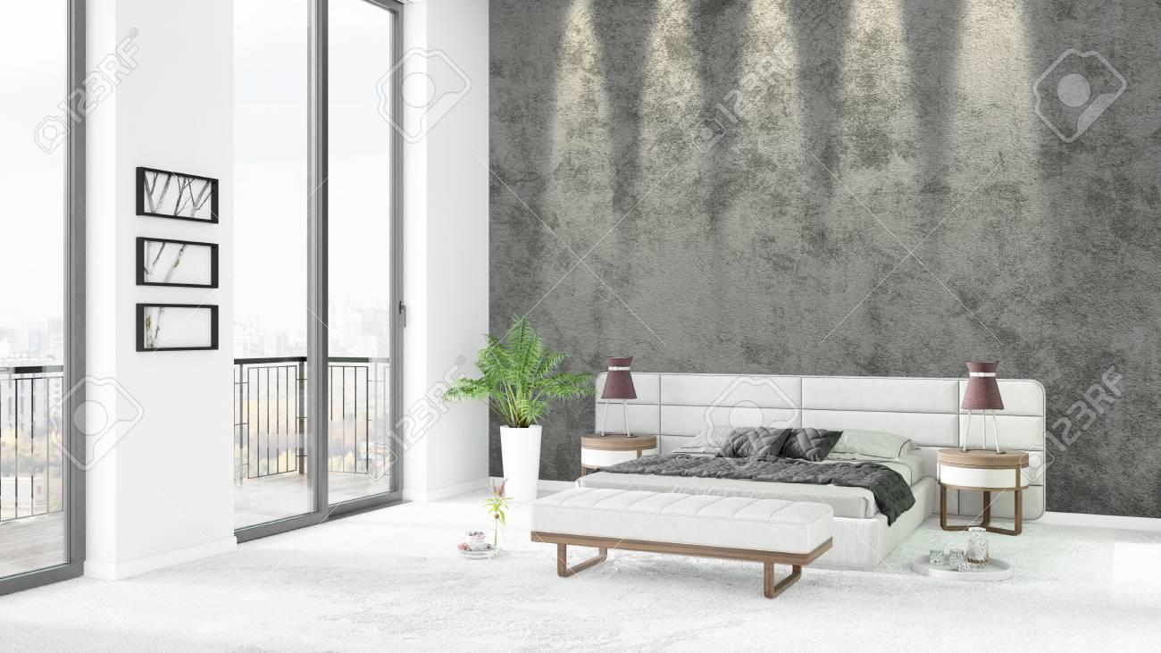 Camere Da Letto Stile Minimalista : Stile bianco nuovo di lusso camera da letto stile minimal design