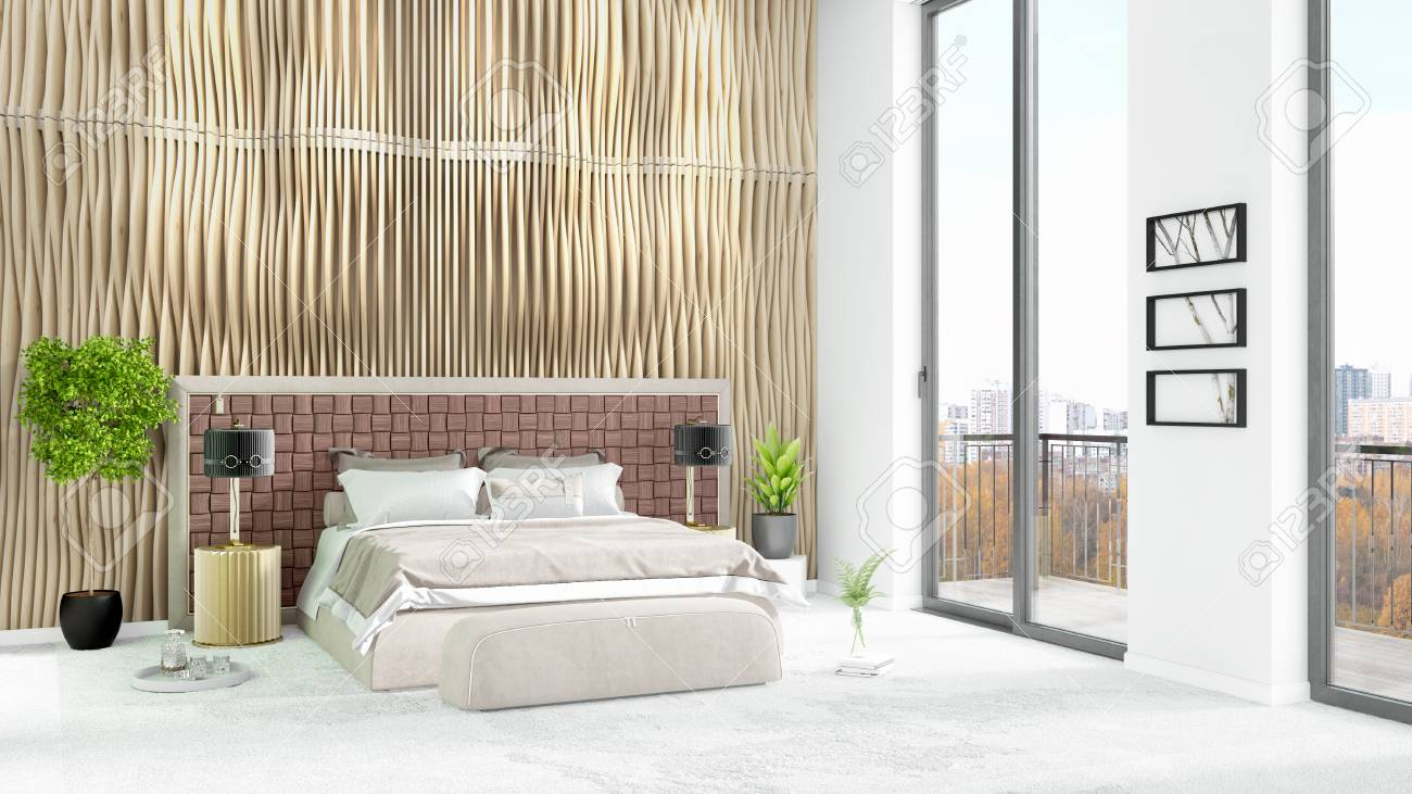 Nagelneue Innenarchitektur Des Weißen Dachbodenschlafzimmers ...