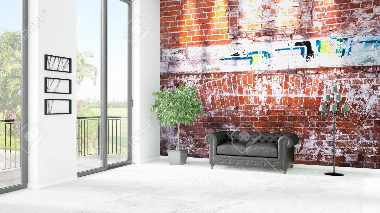 marque nouvelle chambre loft blanc ou salle de séjour style