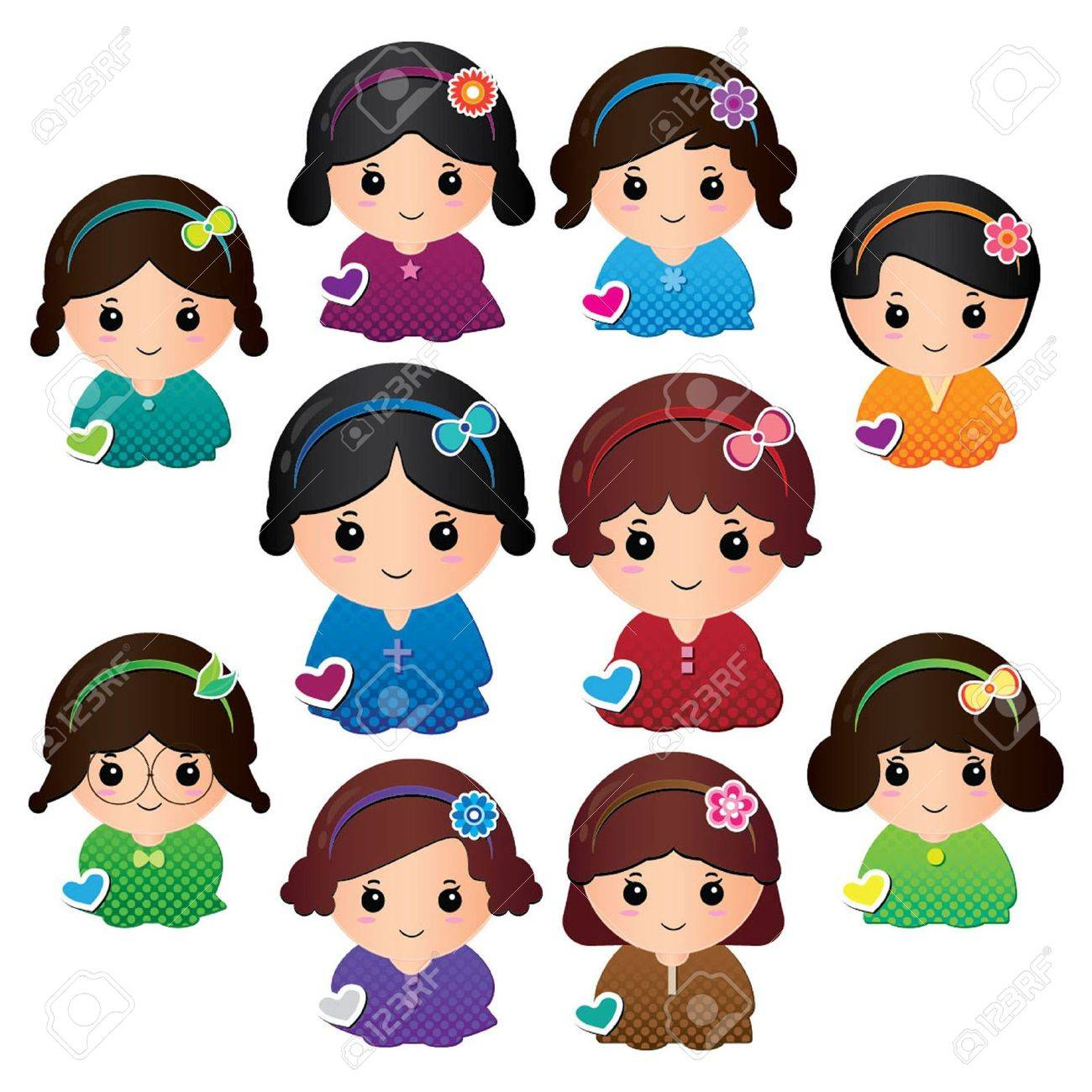 Dolly girls Stock Vector - 12847124