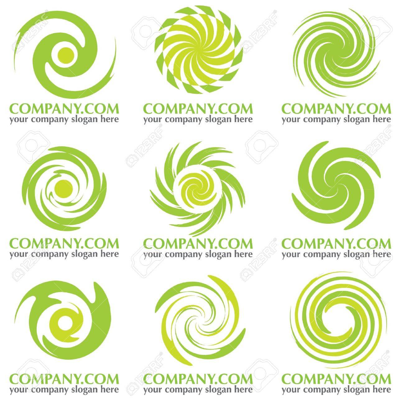 abstract rounded company icon Stock Vector - 12847202