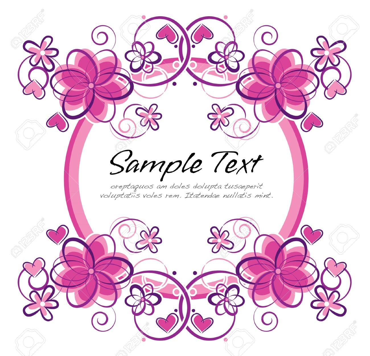 romantic floral frame Stock Vector - 12951853