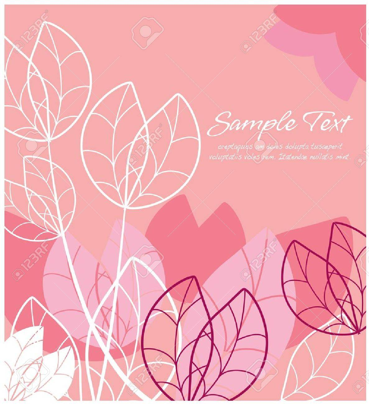 Abstract floral  pink layout Stock Vector - 13026666