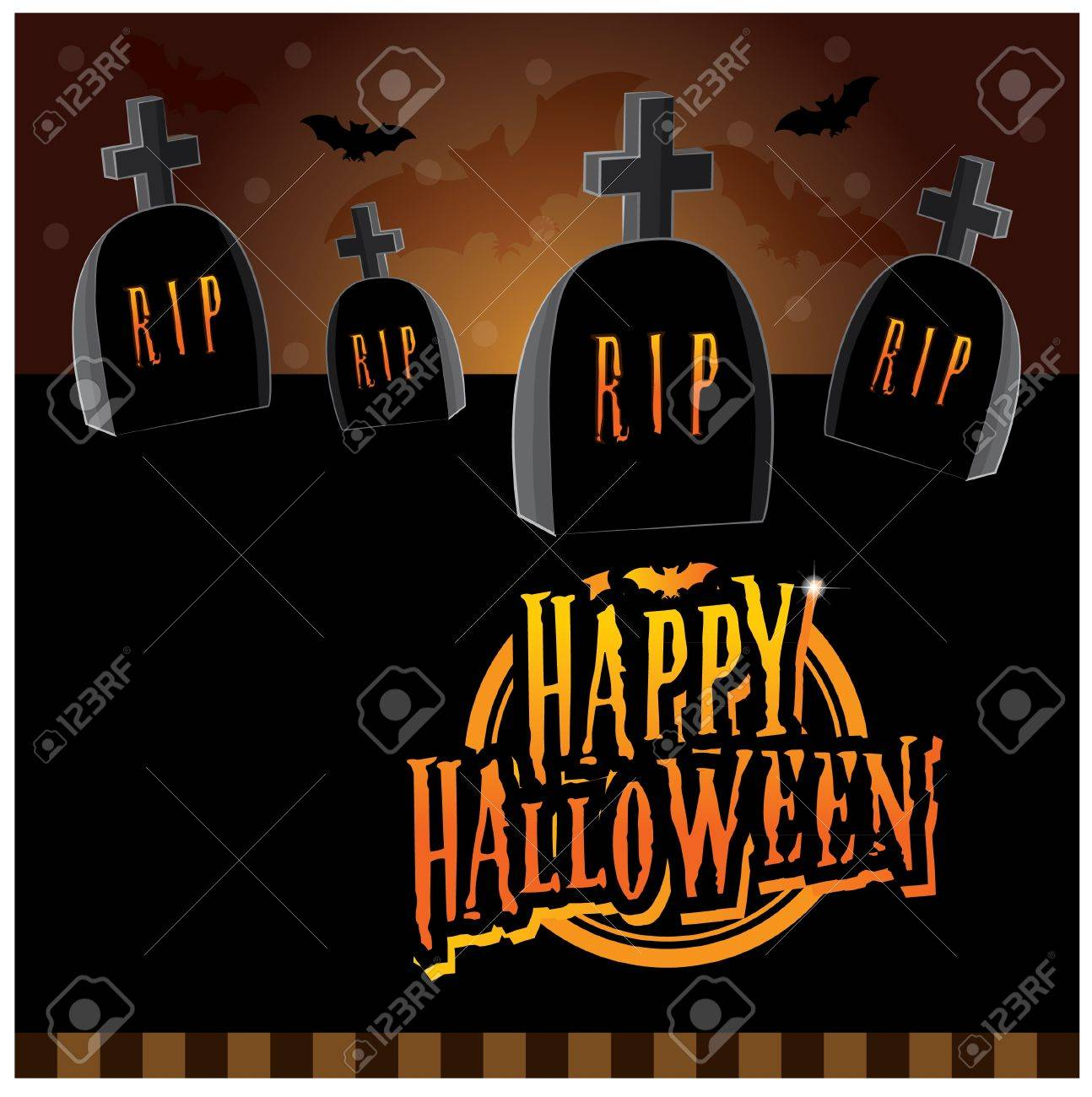 Halloween invitation card layout series creepy graveyard royalty halloween invitation card layout series creepy graveyard stock vector 15143923 stopboris Image collections