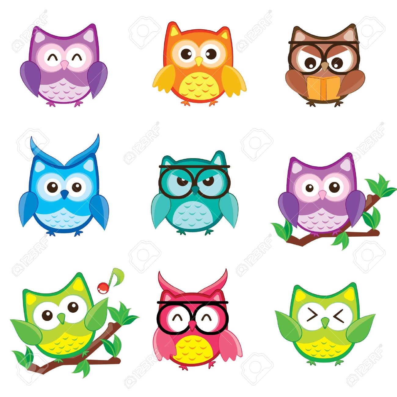 19,547 Cute Owl Stock Vector Illustration And Royalty Free Cute ...