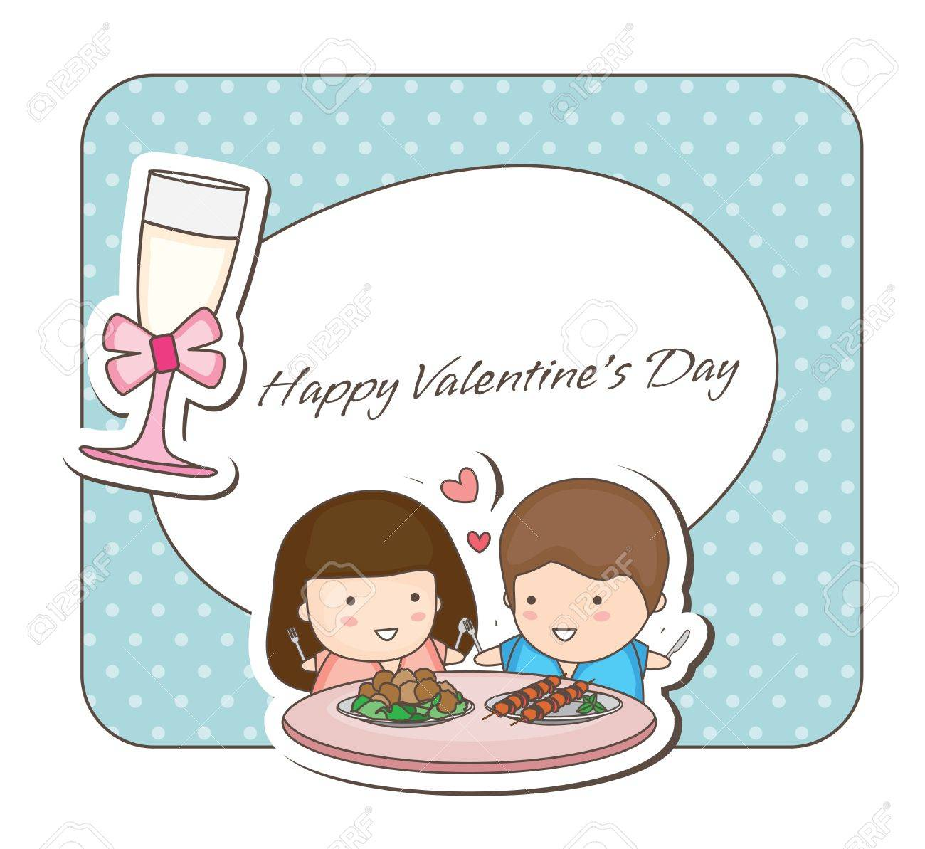 Lovey Couple Frames -romantic Dining Royalty Free Cliparts, Vectors ...