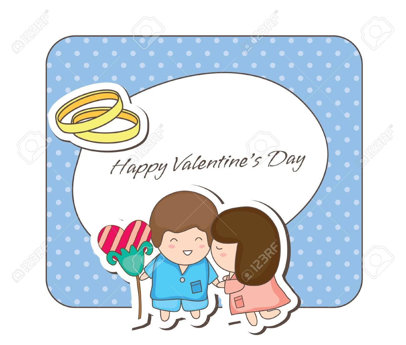 Lovey couple frames -kissing Stock Vector - 16934667