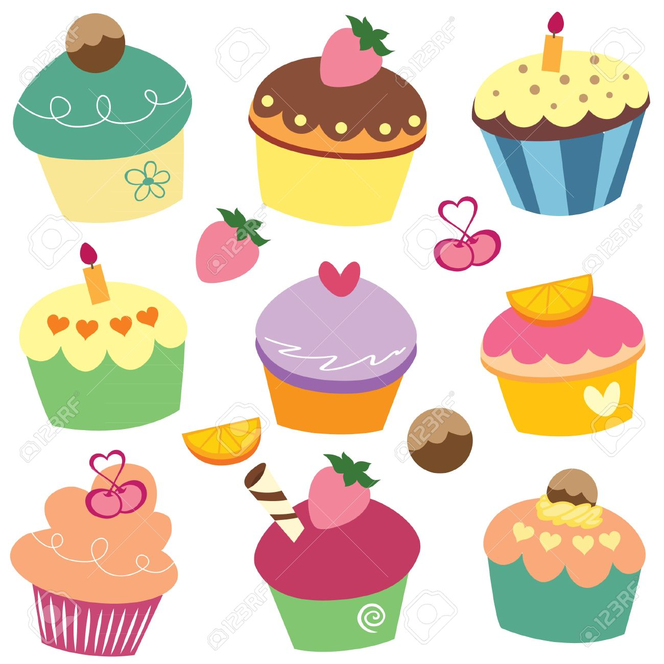 yummy cupcakes clip art royalty free cliparts vectors and stock rh 123rf com cupcakes clipart images cupcakes clipart wallpaper