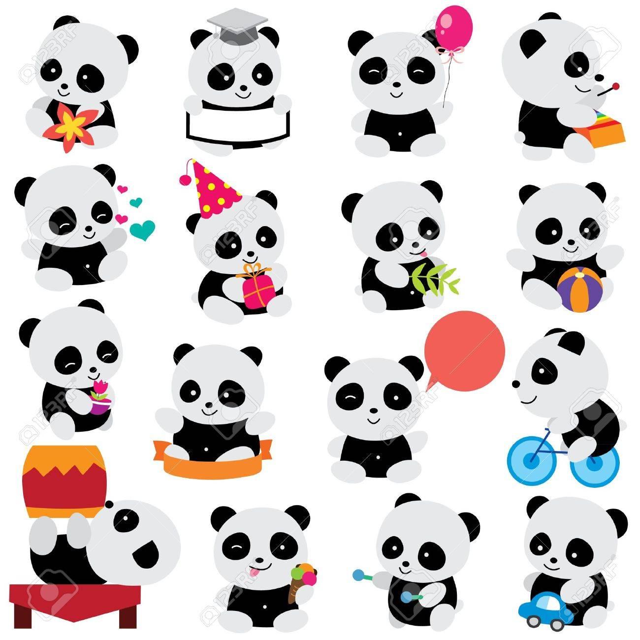 happy panda clip art - 20750429