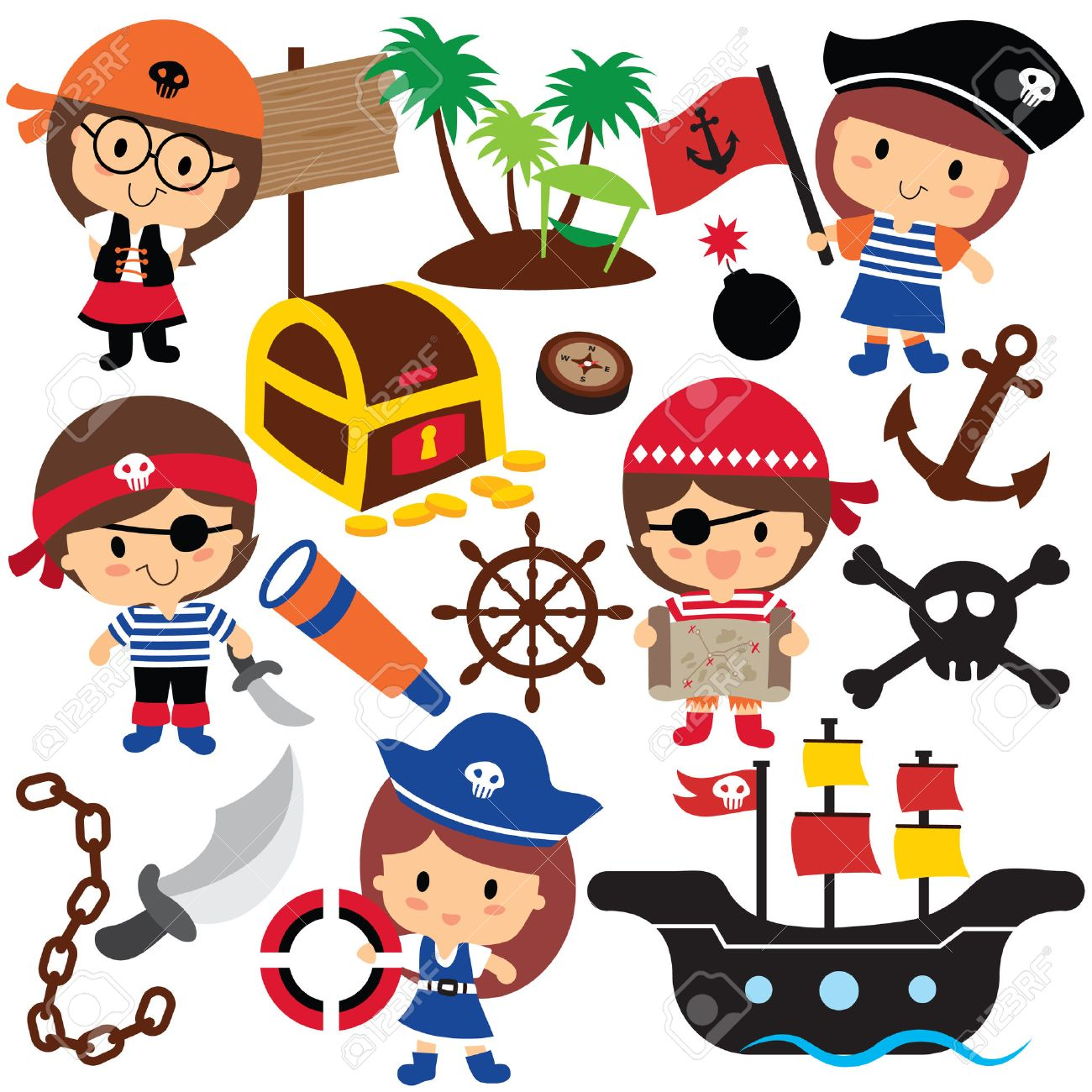 pirates kids clip art royalty free cliparts vectors and stock rh 123rf com pirate clip art free images pirate clip art printable