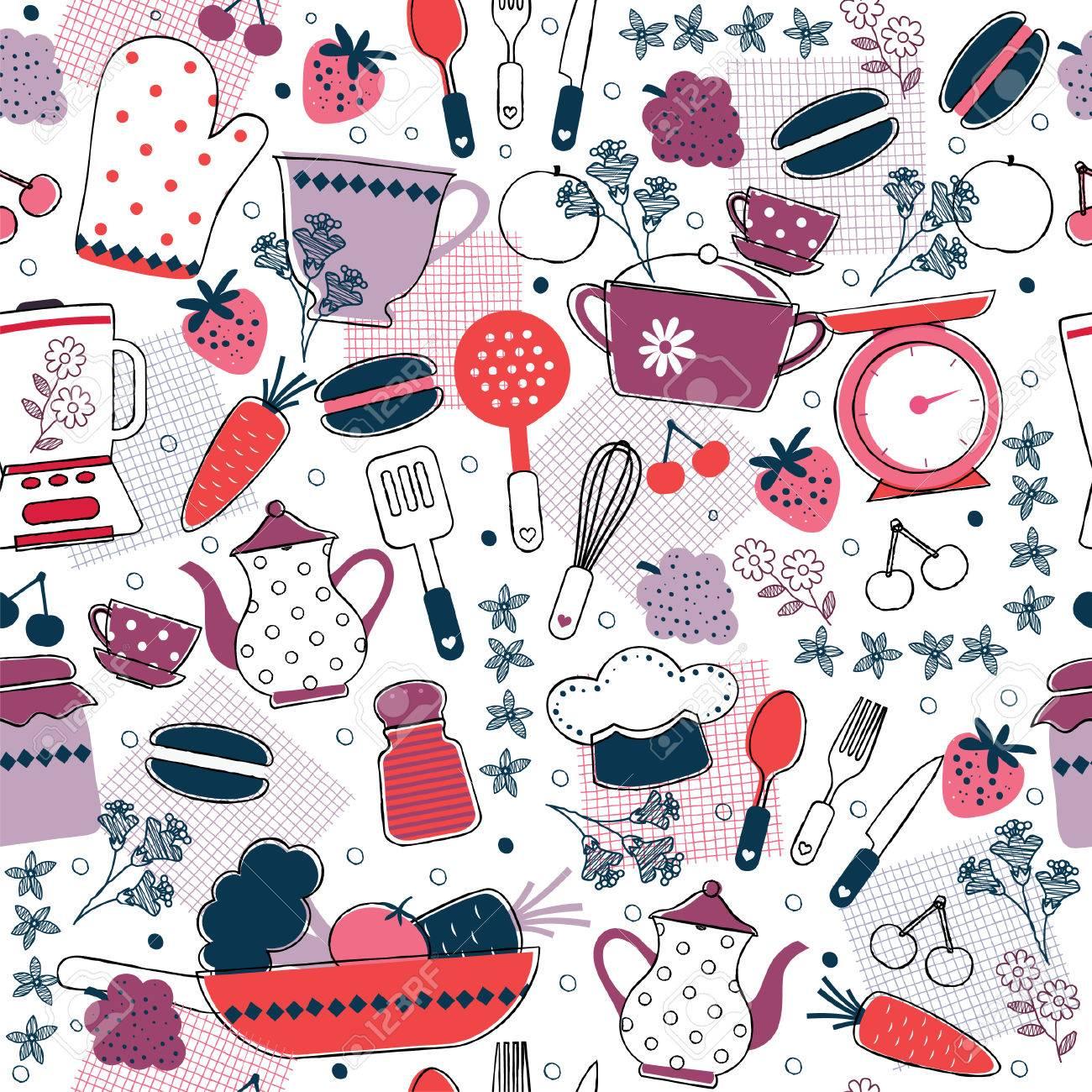 Vettoriale Cucina Senza Soluzione Di Continuita Wallpaper Design Image 33301911