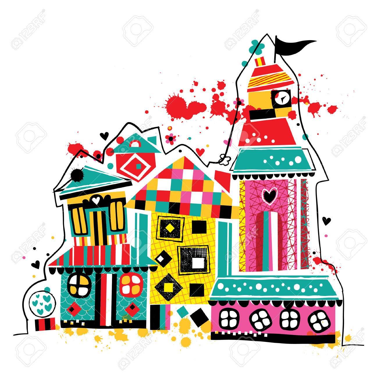 夢の家イラストのイラスト素材ベクタ Image 39466669