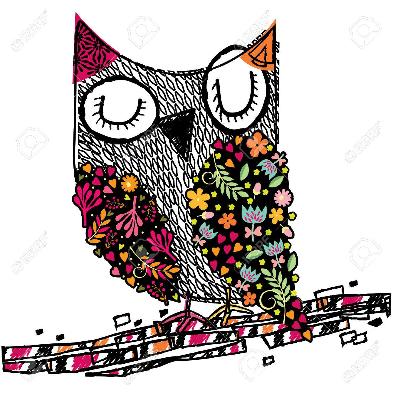 owl floral illustration royalty free cliparts vectors and stock rh 123rf com vector bowling green ky vector online free