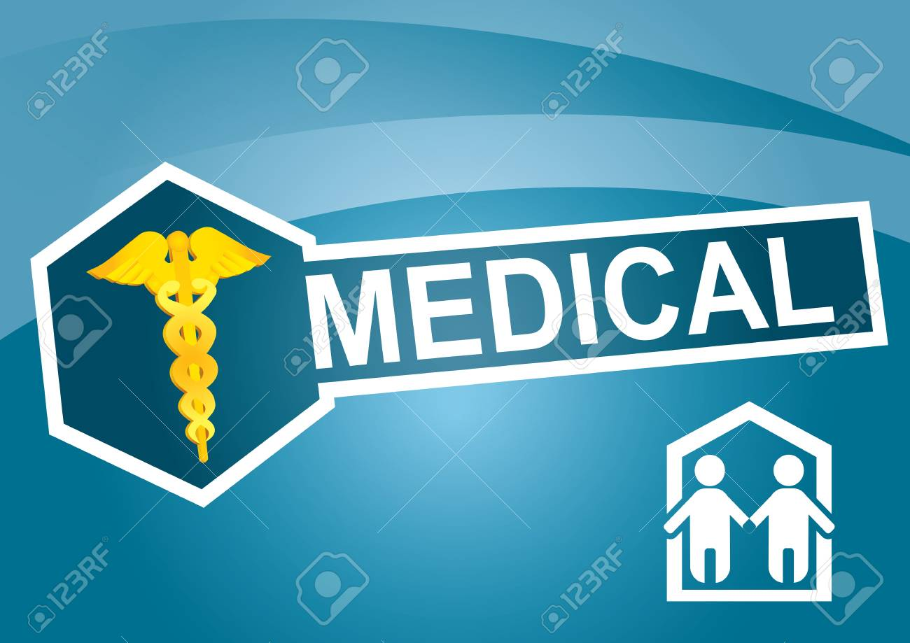 Medical template – modern lyaout design with copy paste area Stock Vector - 12375957