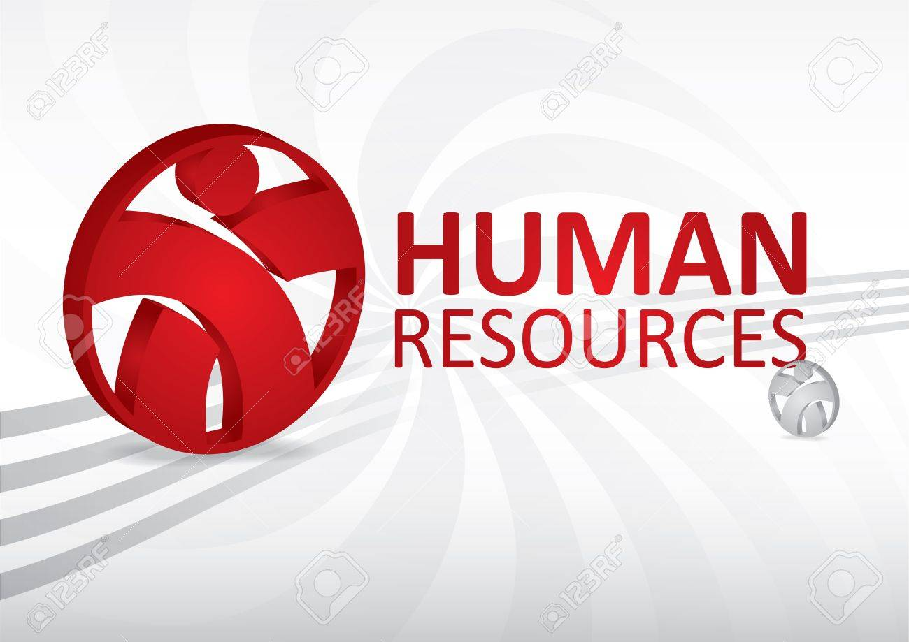 Human resource concept - abstract template with sign Stock Vector - 12801089