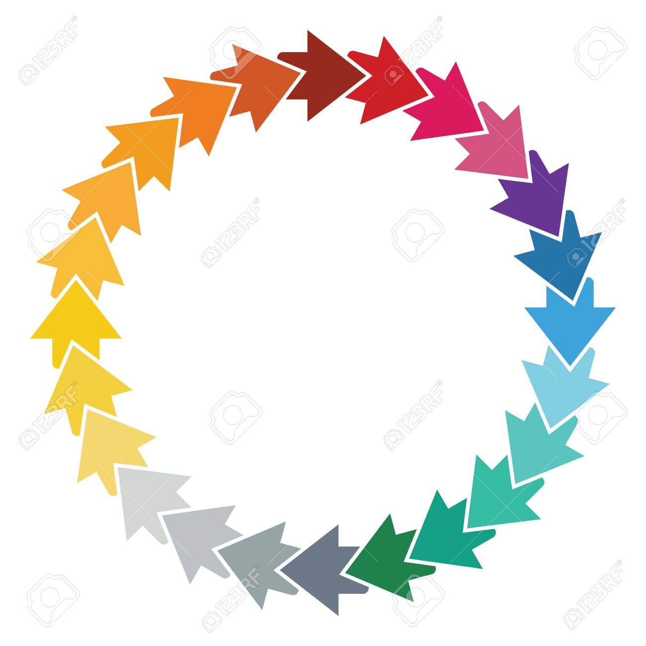 Editable Color Wheel Template With Arrows And Copy Paste Area