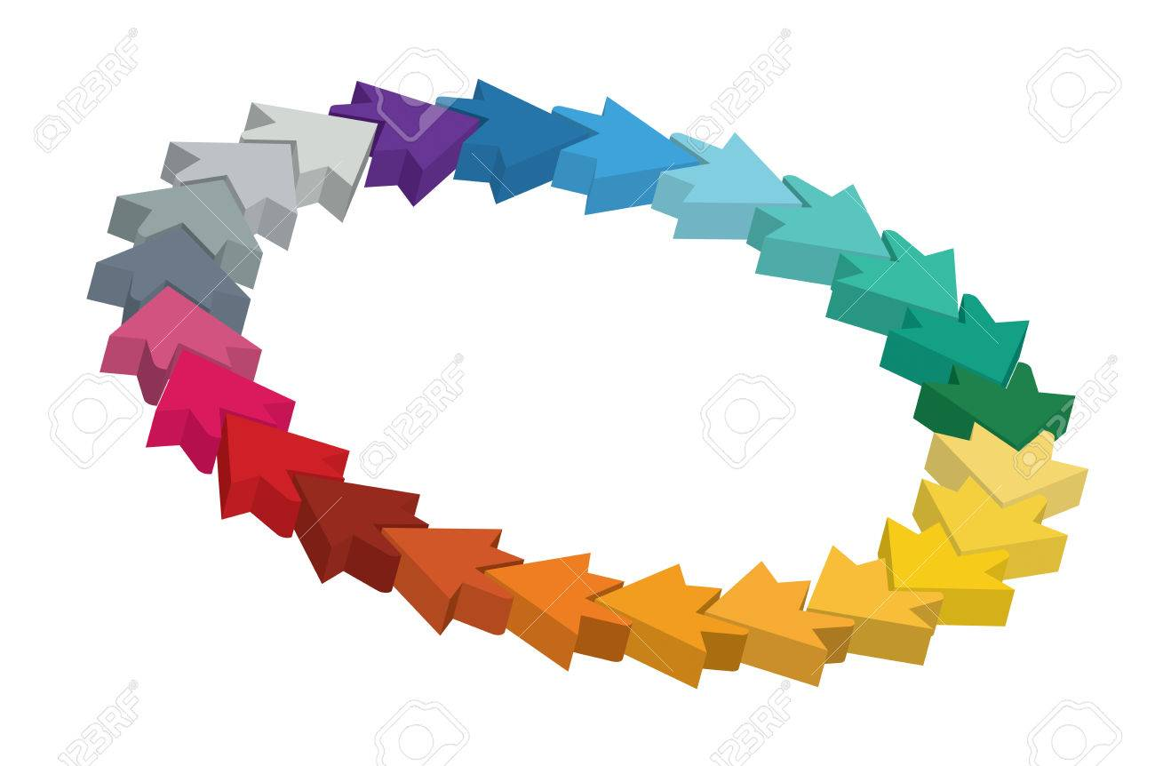 Editable Color Wheel Template With Arrows And Copy Paste Area ...