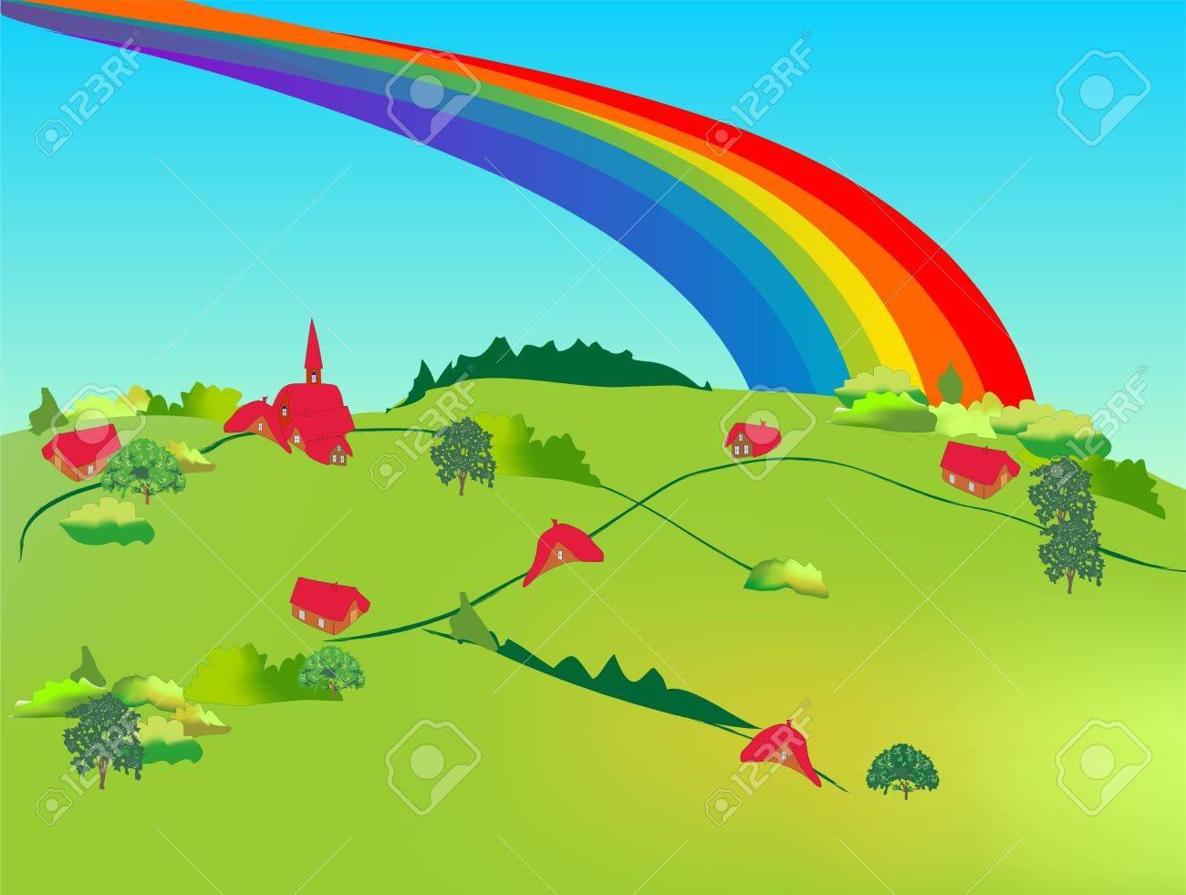 rainbow Stock Vector - 12489713