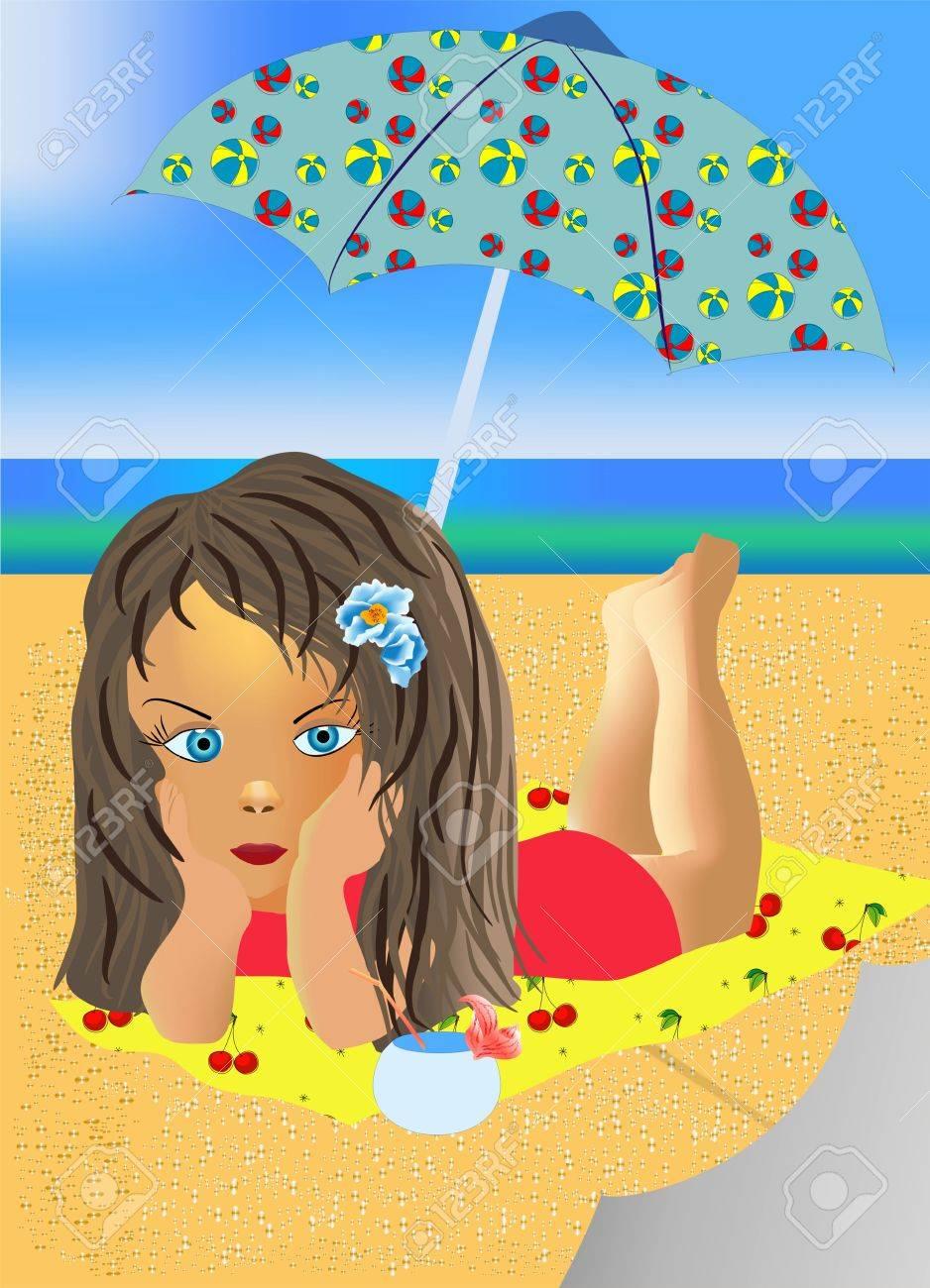 beach, Stock Vector - 12489728