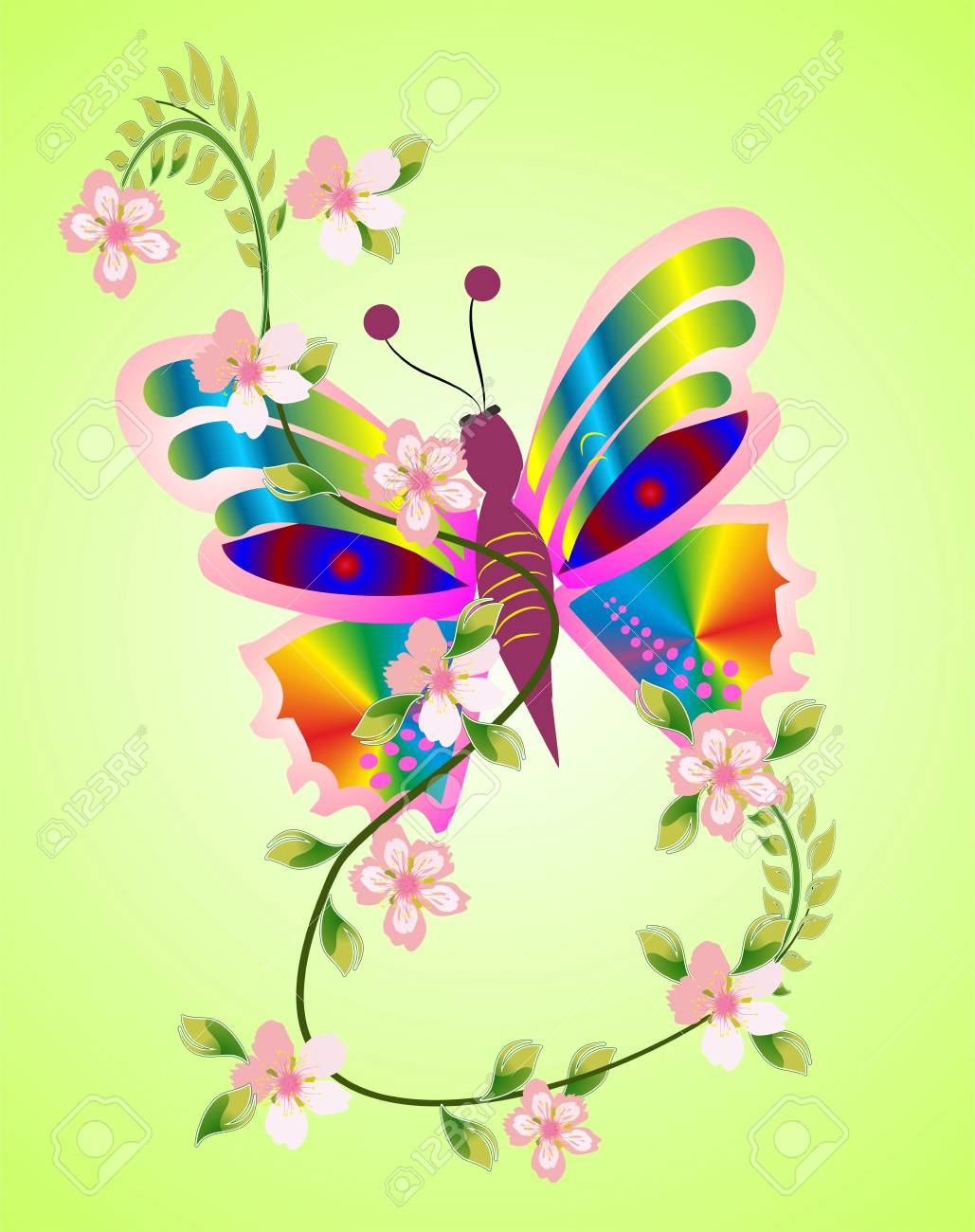 Spring butterfly Stock Vector - 18955853