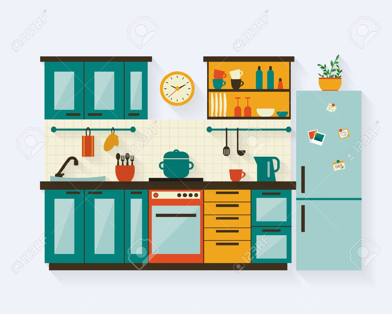 228,424 Kitchen Design Stock Vector Illustration And Royalty Free ...