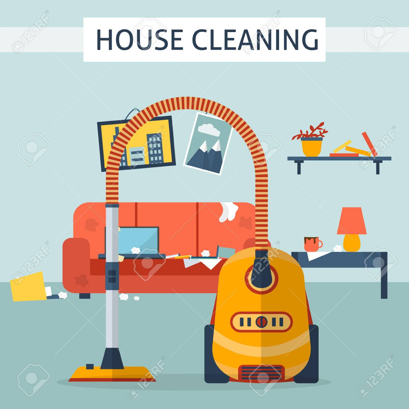 cartoon cleaner stock photos images royalty cartoon cleaner cartoon cleaner dirty and clean room disorder in the interior room before and