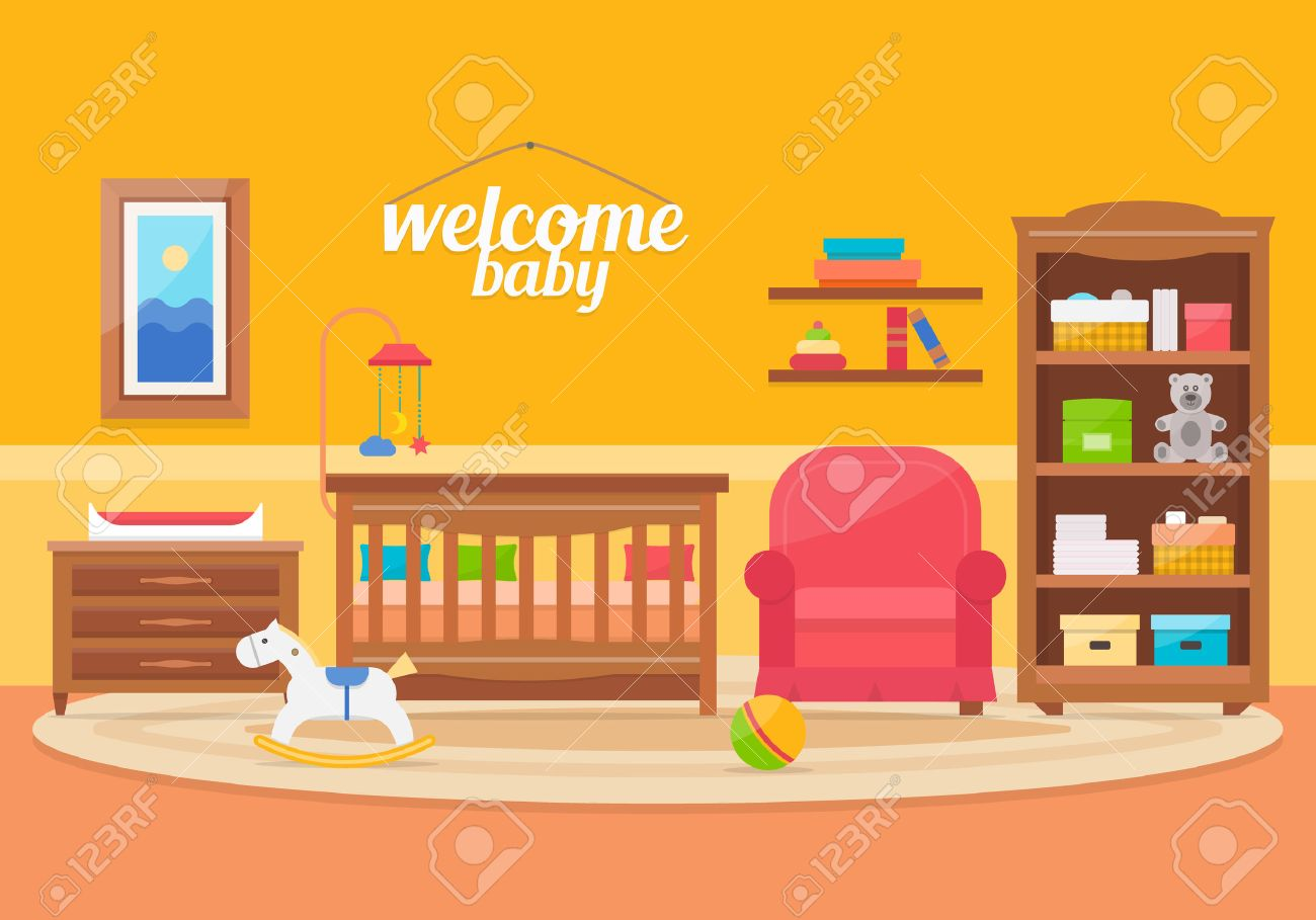 baby playroom furniture. interesting playroom baby room with furniture nursery and playroom interior flat style vector  illustration stock to playroom furniture