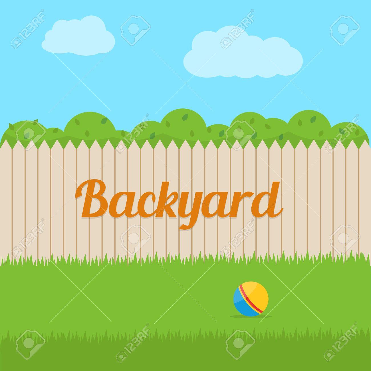 Backyard of house. Flat style vector illustration. - 52617179