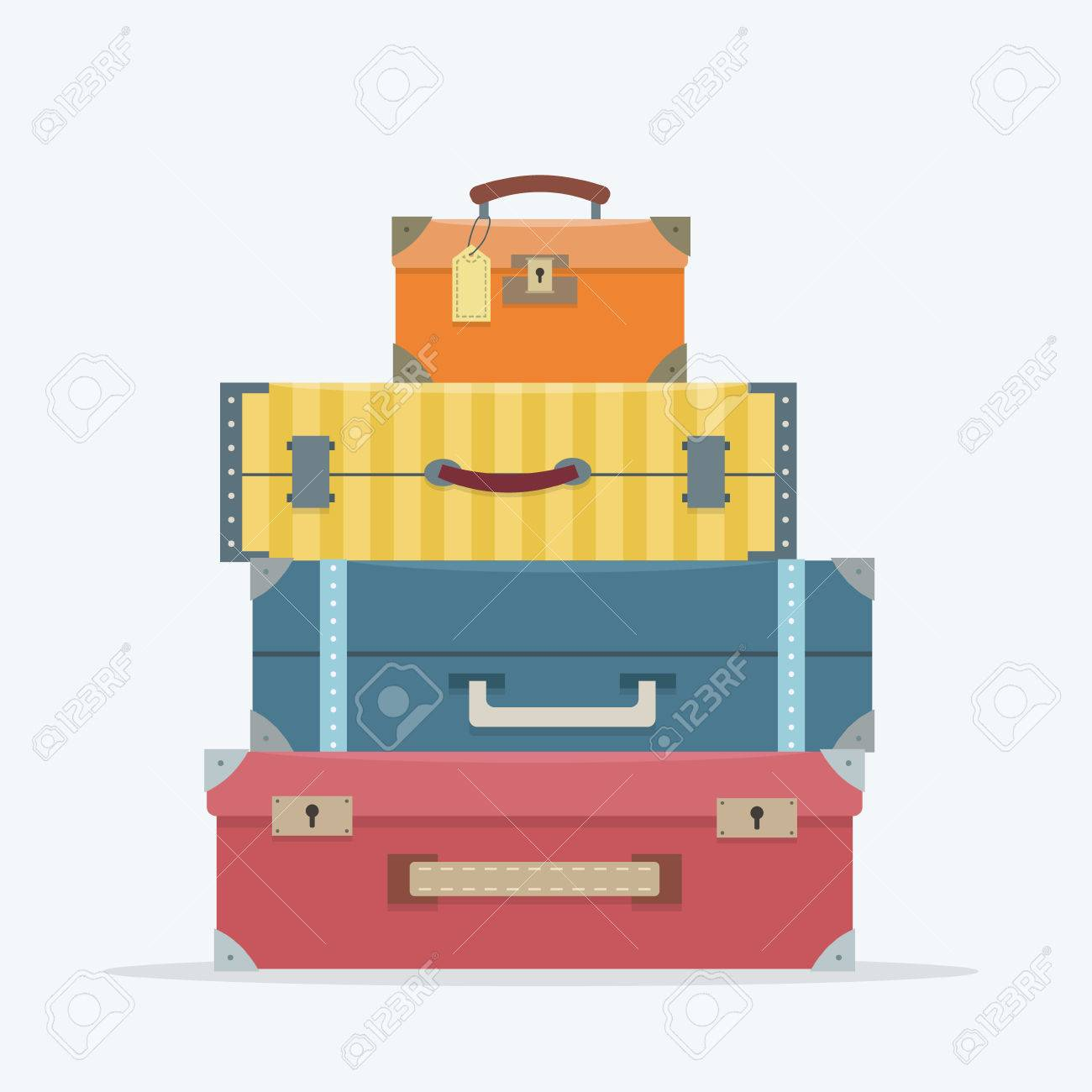 Baggage on background. Flat style vector illustration. - 52617210