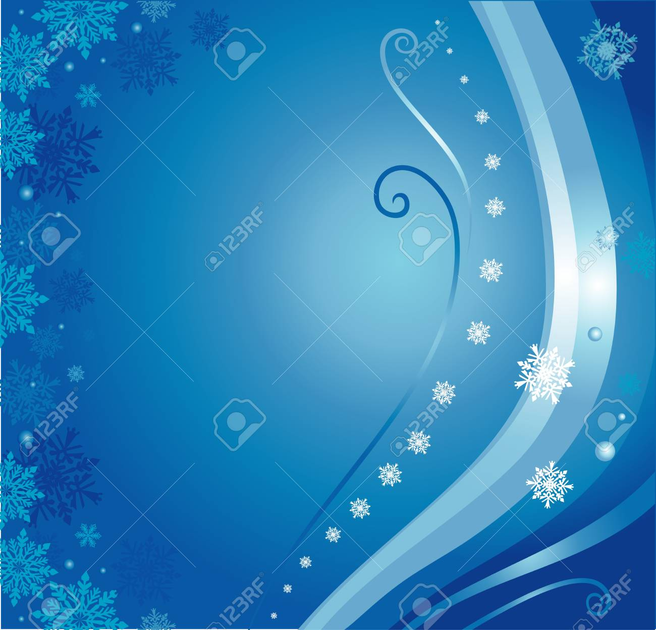 blue  christmas card background with snowflakes Stock Vector - 17524752