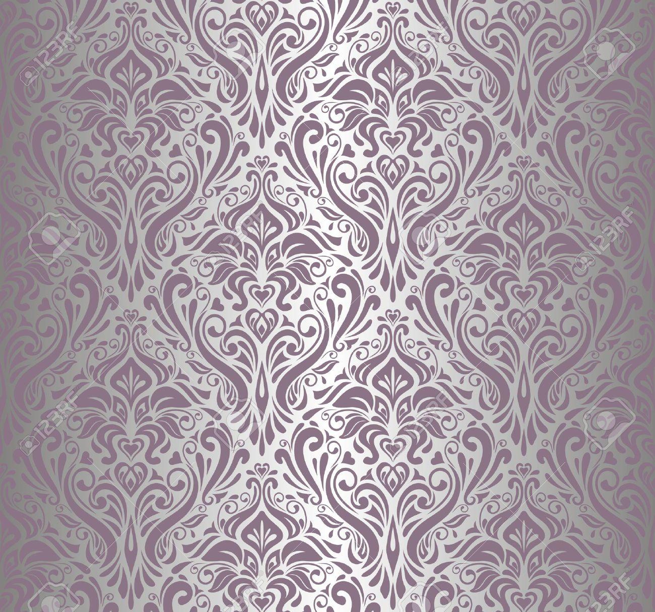 pink    silver vintage wallpaper Stock Vector - 17524730