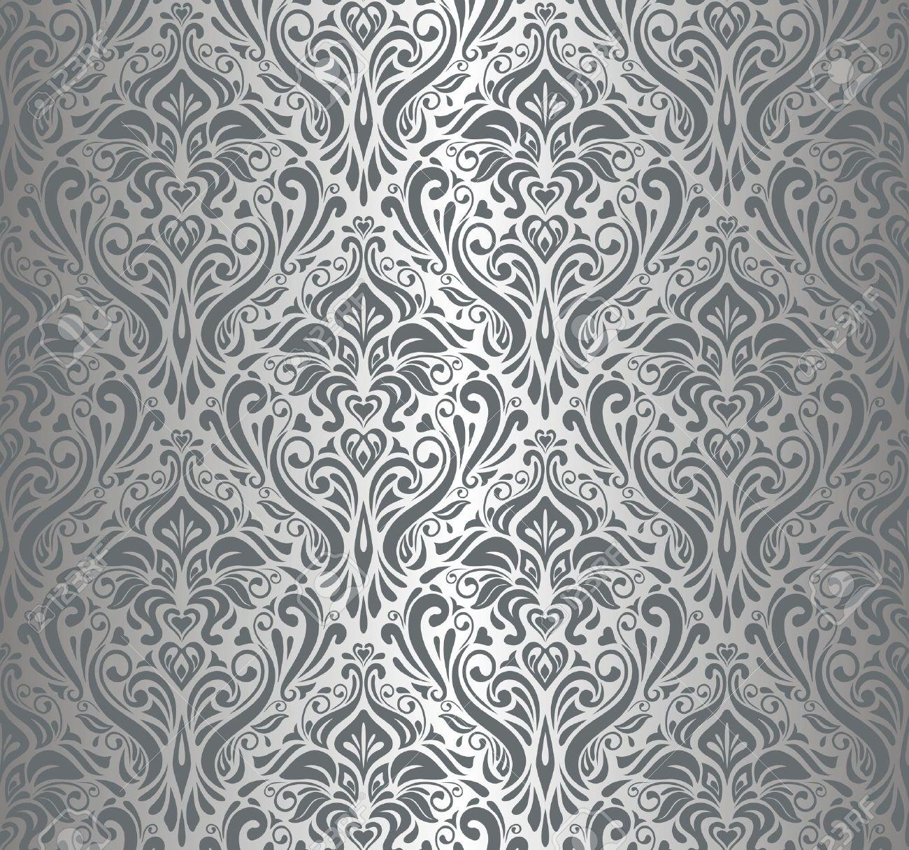 silber luxus vintage tapete lizenzfreie bilder 18684155 - Silber Tapete