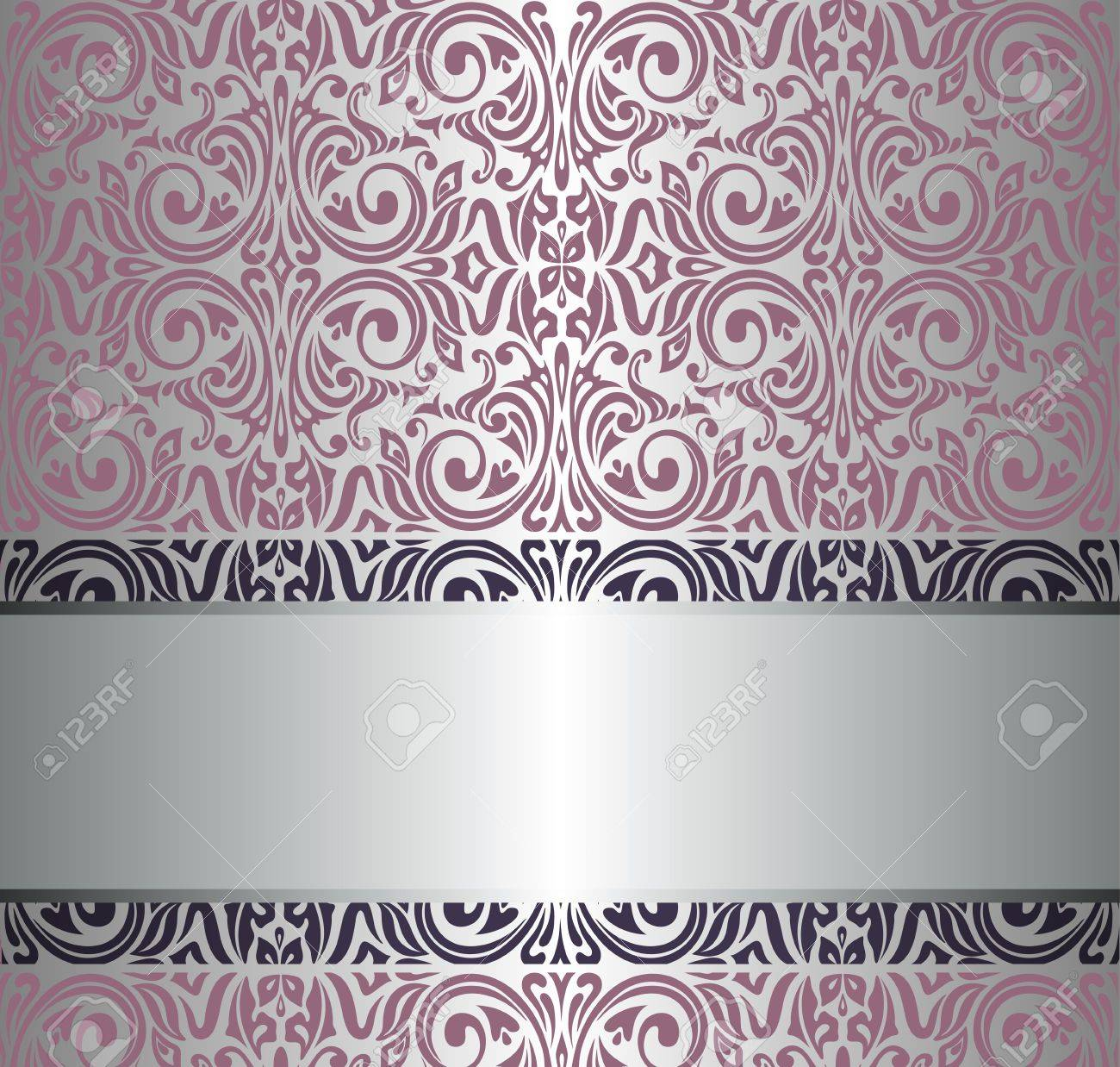 ... Allen And Roth Wallpaper By Pink Silver Vintage Wallpaper Royalty Free  Cliparts Vectors And ...