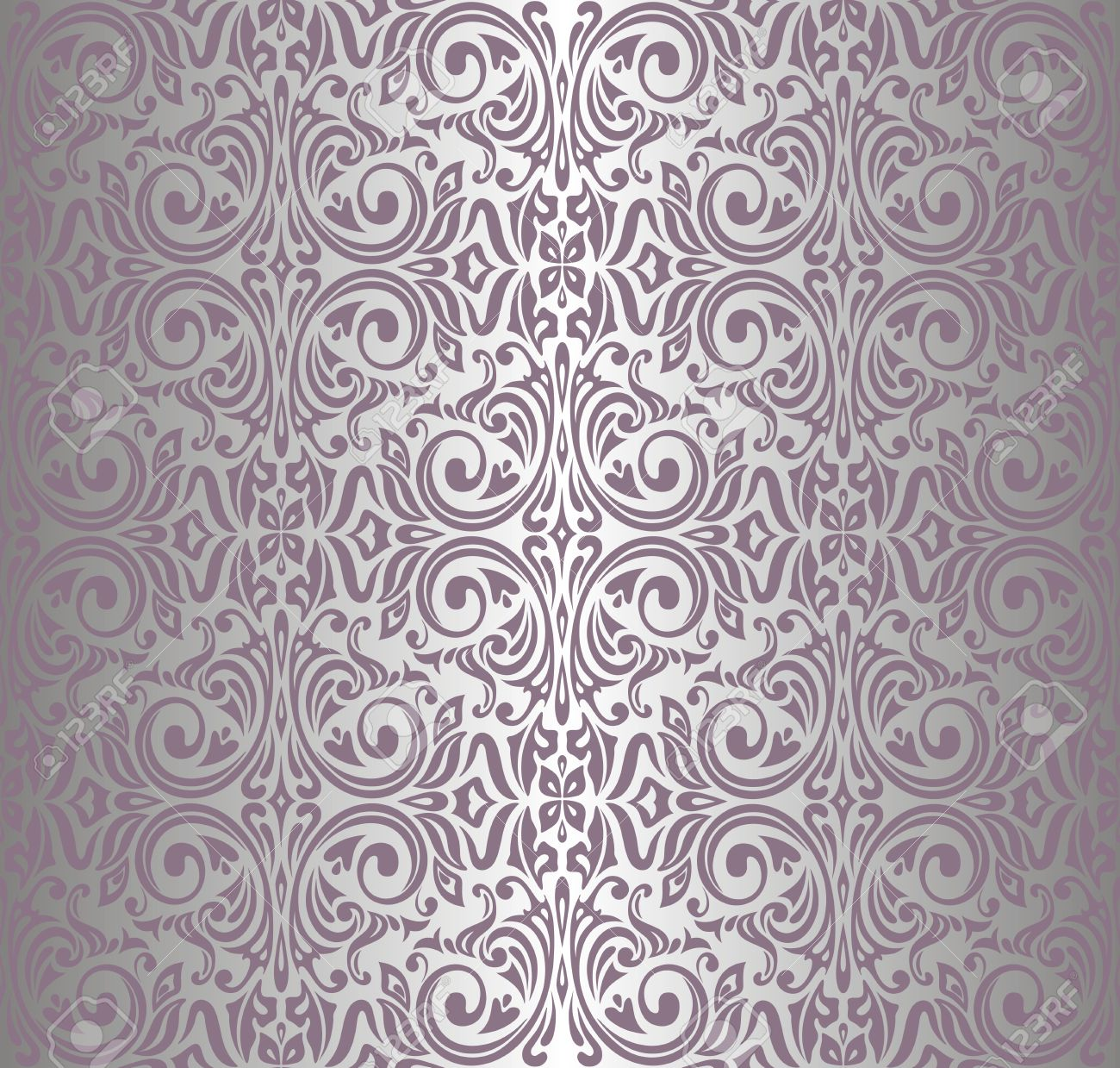 Attractive Pink Silver Vintage Wallpaper Royalty Free Cliparts, Vectors, And  IS26