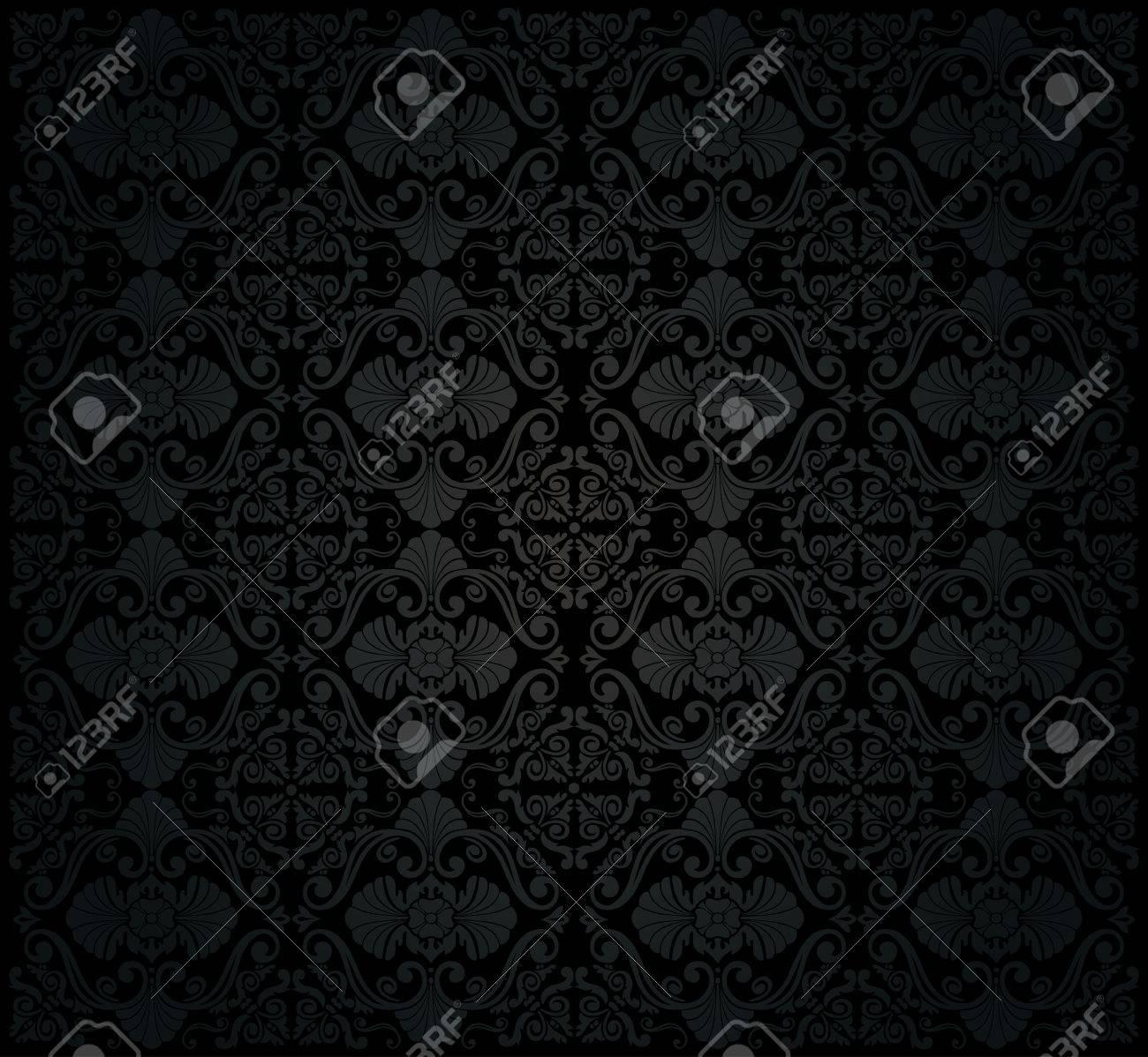 黒のビンテージ壁紙のイラスト素材 ベクタ Image 26374271