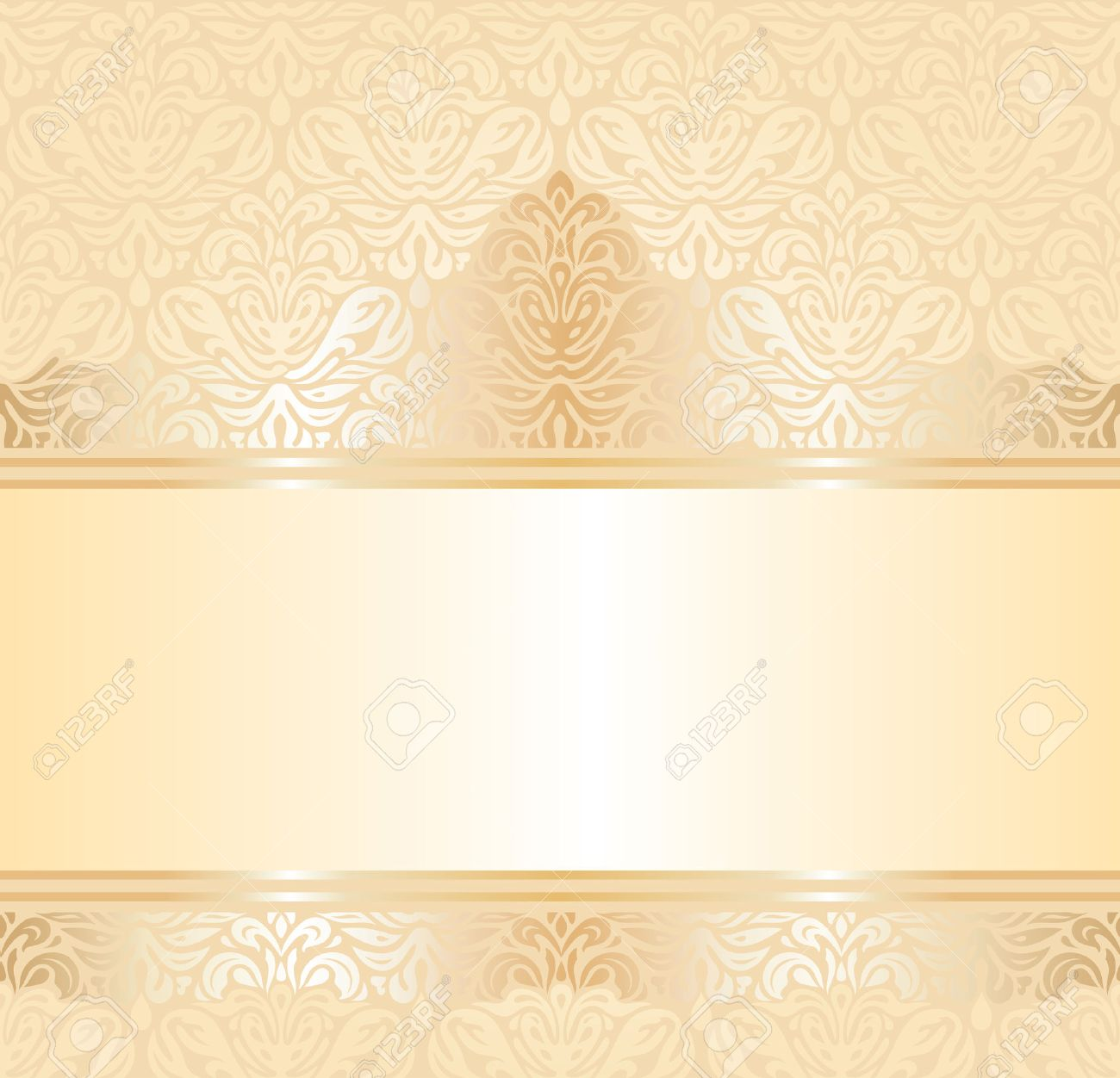 Gentle Wedding Pale Peach Invitation Background Design Royalty Free