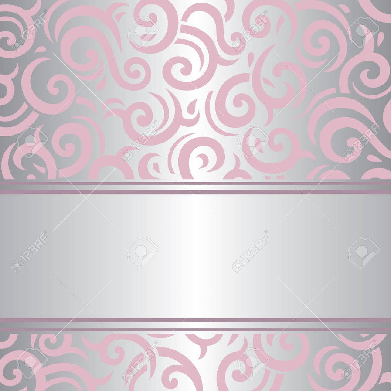 Pink Silver Invitation Vintage Background Retro Vector Wallpaper
